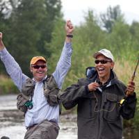 Barack Obama à la pêche!